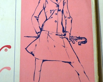 Vintage 1974 Sewing Pattern Stretch & Sew Misses'  Jacket Bust 28-40 inches  Complete