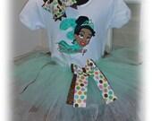 Personalized Disney Princess Tiana Birthday Tutu Set