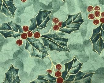 Christmas Holly fabric - 1 1/2 yards