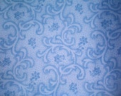 Dreamy Periwinkle Blue Fabric Blue Paisley Fabric Paisley Fabrics Floral Fabric - Cotton Fat Quarter Fabrics for Quilting or Craft Remnant
