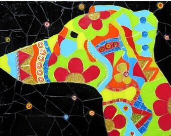 Greyhound Mosaic Art