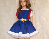 Childrens Rainbow Brite Cosplay Pinafore Apron Costume Skirt Child Sizes - MTCoffinz