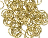 8MM Gold Plated Jump Ring 18 Gauge Qty 100