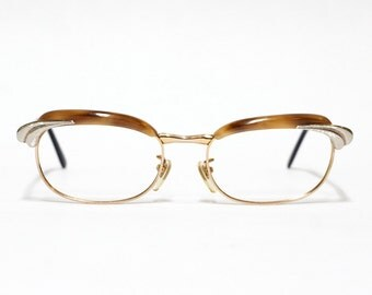 Serge Kirchhofer vintage eyeglasses model SK 18 in NOS condition - Udo Proksch eyewear - gold filled frame - 1/1012 kgf - browline