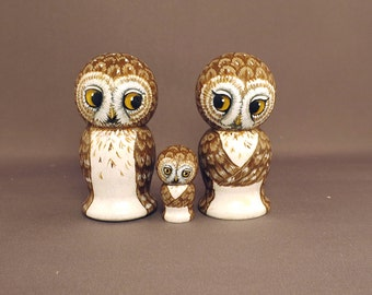 Owl Family Figures  Owls Child Wedding Cake Toppers