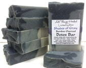 Shades of Gray, Bamboo Charcoal DETOX Bar, handmade natural soap, stocking stuffer