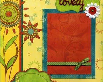 Lovely - Premade Scrapbook Page