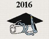 Graduation Class of 2016 Afghan Crochet Pattern Graph Chart