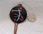 Mid Century Modern REBAJES Copper and Enamel Necklace