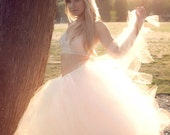 Boho Bridal Tulle Skirt W...