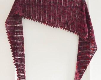 PDF Crochet Pattern: Thaden's Asymmetrical Shawl
