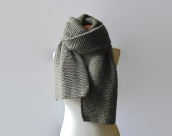 Khaki Green Wool Huge Scarf, Long Winter Scarf, Mens Womens Scarves, Extra Long Shawl Scarf, Cute Wide Scarf, Wrap Scarf, Blanket Scarf