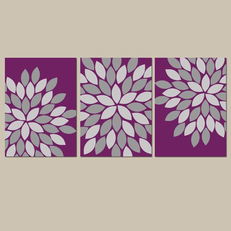 purple gray wall art bedroom canvas or prints eggplant. Black Bedroom Furniture Sets. Home Design Ideas