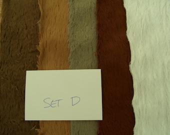 Set.Nr. D, 5 morceaux de viscose SCHULTE emmêlé 25/35 cm de belles nuances de marron/noir/blanc.