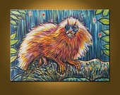 RESERVED for JENNA - Golden Monkey -- 16 x 22 inch Original Oil Painting by Elizabeth Graf on Etsy