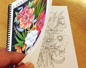 Cannabis Coloring Journal - Complex designs for adults to color