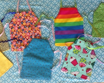 New Double Sided Aprons to fit 18 inch doll...will fit American Girl Dolls