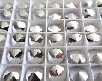 4 Crystal CAL Foiled Swarovski Rivoli Stone 1122 12mm