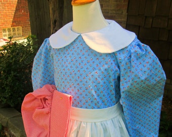 Kirsten dress for Girls /Little House on the Prairie Costume... Made to order ONLY(PLEASE check lead time inside of ad )