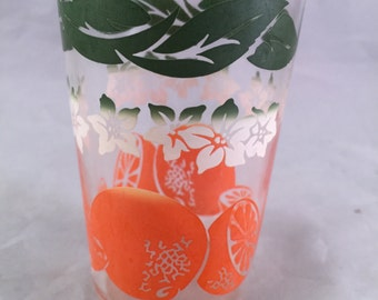 Vintage SWANKY SWIG Style 1950's Era Juice Glass with Oranges