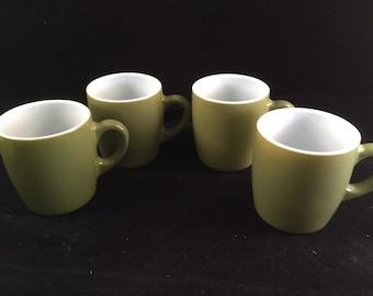 4 Vintage Avocado Green Fire King Era Mugs or Cups