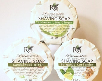Shaving Soap with Kaolin Clay in 3 essential oil blends
