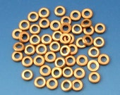 Greek Round Edge Washer, Solid Brass Bead, 5 MM, 2.5 mm Hole, 50 Pieces M389