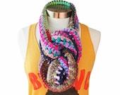 Crochet Circle Infinity Cowl Scarf Gypsy Hippe Inspired Rhyme & Reason Series