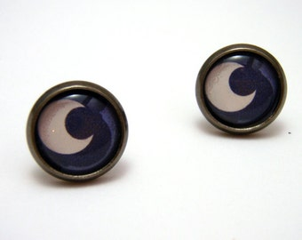 Princess Luna Studs - My Little Pony Friendship is Magic Cutie Mark post earrings - SMALL 10mm - MLP FIM Geekery Geek Chic