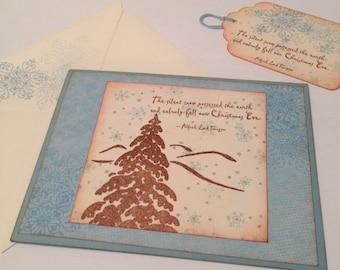 Handmade Snowflake Greeting Card