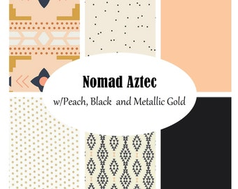 Custom Crib Bedding-3 piece-Nomad Aztec