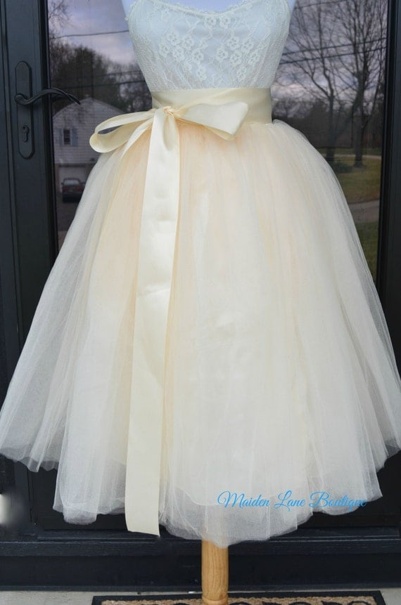 womens tutu chagne tulle skirt chagne by