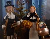 Plymouth Rock Pilgrim Doll Set Miniature Art Collectibles