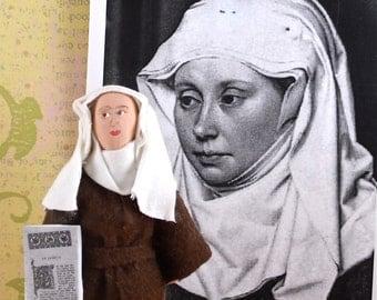 Marie de France Medieval Poet Doll Miniature Historical Literature Figure