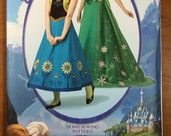 Simplicity 1094 Frozen Costume Sewing Pattern Elsa Anna Womens Sizes 6-8-10-12-14 Gown Dress