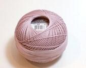 Light Purple Tatting Thread, Lizbeth Size 20 Cotton Crochet Thread, Light Antique Violet, Color number 639