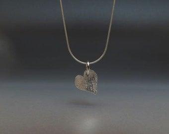 Little Texture Heart Necklace