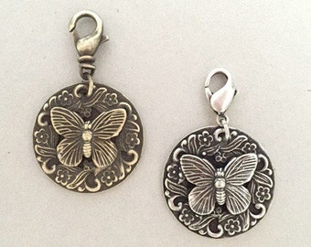 Butterfly Dog Collar Charm