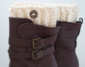 Cream Boot Cuffs, Boot Toppers, Boot Cuffs READY TO SHIP