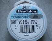 Beadalon 49 Strand Wire YOU CHOOSE .013 .015 .018 .021 .024 Beading Wire 100 Foot Spool