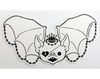 Spooky Cute Bat Sticker Pocket Full of Posiez