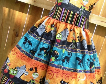 Ready to Ship Custom Boutique Halloween Girl Jumper Dress 8