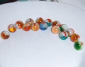 Vintage Marble Lot Vitro Agate Helmuts