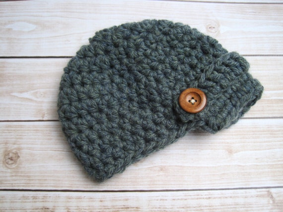 Crochet Infant Hat, Baby Boy Hat, Baby Beanie, Baby Cap, Baby Boy Clothing, Boy Newsboy Hat, Hat for Baby Boys, Newborn Hat, Baby Hat, Blue