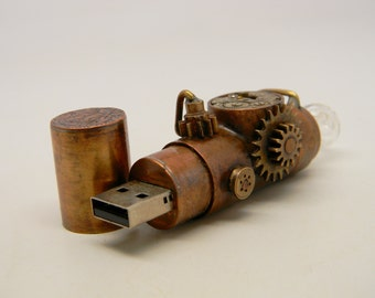 Steampunk usb flash drive 16GB.