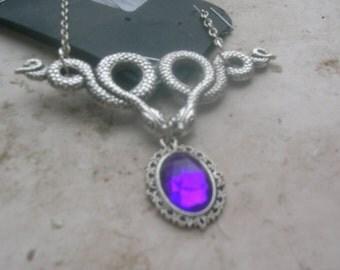 medusa snake pendant