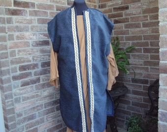 Biblical costume, blue  vestment, wiseman robe, renaissance costume, kings vestment, Christmas pageants, Halloween costume