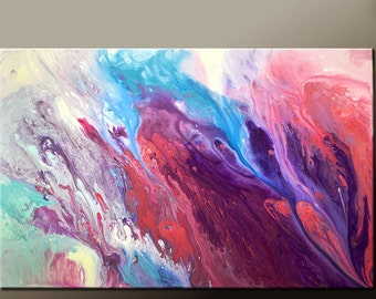 Abstract Canvas Art Painting 36x24 Original Contemporary Paintings by Destiny Womack - dWo - Reaching for Heaven