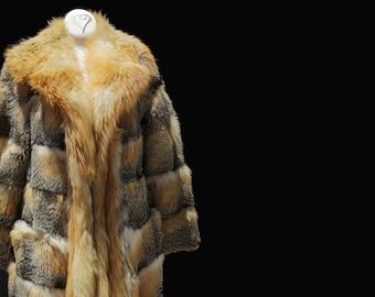 Vintage Genuine Gold Island Fox Fur Coat