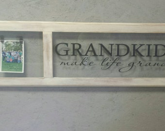 Grandkids Make Life Grand decal measuring 28 x 6.5 overall